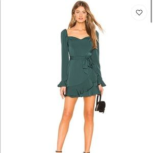 NWT Revolve Emerald Green Christmas Party Dress